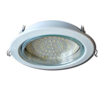 Встраиваемый потолочный точечный светильник-спот Ecola GX70 H5 без рефлектора. Белый. - Олимп-Зеленоград