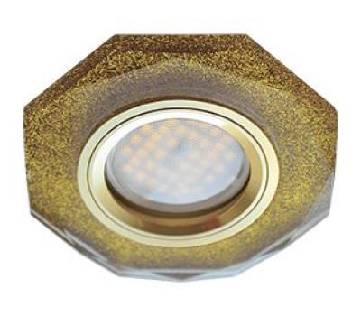 Ecola MR16 DL1652 GU5.3 Glass Стекло 8-угольник с прямыми гранями Золотой блеск / Золото 25x90 - Олимп-Зеленоград