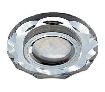 Ecola MR16 DL1653 GU5.3 Glass Стекло Круг с вогнутыми гранями Хром / Хром 25x90 - Олимп-Зеленоград