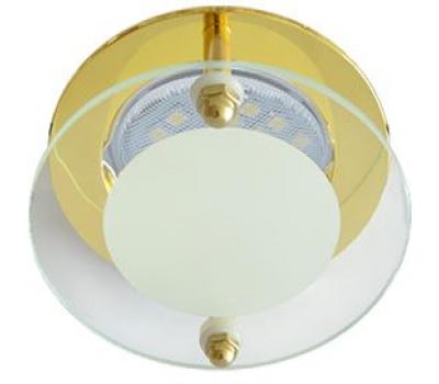 Ecola MR16 DL201 GU5.3 Glass Круг со стеклом Прозрачный и Матовый / Золото 45x80 - Олимп-Зеленоград