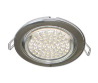 Ecola GX53 H4 Downlight without reflector_chrome (светильник) 38x106 - 10 pack - Олимп-Зеленоград