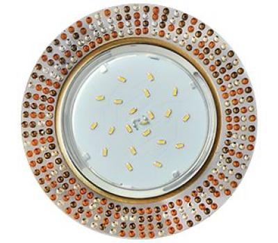 Ecola GX53 H4 5319 Glass Круг с  прозр.-янтарной мозаикой/фон зерк./центр.часть черненая бронза 40x123x123 (к+) - Олимп-Зеленоград
