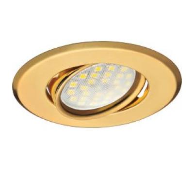 Светильник Ecola MR16 DH09 GU5.3 встр. поворотный плоский (скрытый крепеж лампы) Золото 25x90 - Олимп-Зеленоград