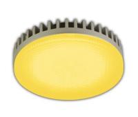 Ecola GX53   LED color  6,1W Tablet 220V Yellow Желтый матовое стекло 28x74 - Олимп-Зеленоград
