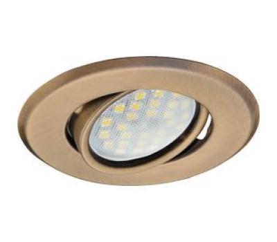Светильник Ecola MR16 DH09 GU5.3 встр. поворотный плоский (скрытый крепеж лампы) Бронза 25x90 - Олимп-Зеленоград
