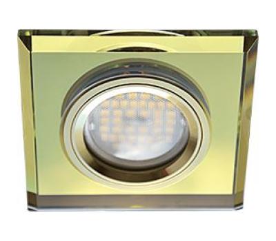 Ecola MR16 DL1651 GU5.3 Glass Стекло Квадрат скошенный край Золото / Золото 25x90x90 - Олимп-Зеленоград
