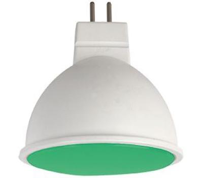 Ecola MR16   LED color  7,0W  220V GU5.3 Green Зеленый матовое стекло (композит) 47х50 - Олимп-Зеленоград