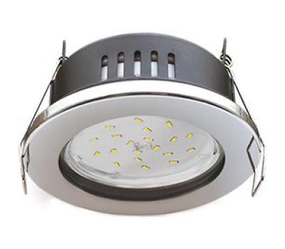 Ecola GX53 H9 защищенный IP65 светильник встраив.  без рефлектора  хром  98*55 - Олимп-Зеленоград