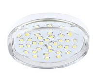 НОВИНКА! Ecola Light GX53 LED  8,0W Tablet 220V 4200K 27x75 прозрачное стекло 30000h - Олимп-Зеленоград