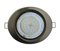 Ecola GX53 FT3238 светильник встр. без рефлектора Эллипс сатин-хром 41x126x106 - Олимп-Зеленоград