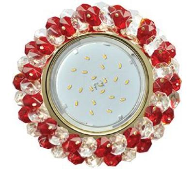 Ecola GX53 H4 Glass Круглый с хрусталиками прозрачный и рубин/ золото 56x120 - Олимп-Зеленоград