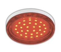 Ecola GX53   LED color  4,4W Tablet 220V Red Красный прозрачное стекло 27x74 - Олимп-Зеленоград