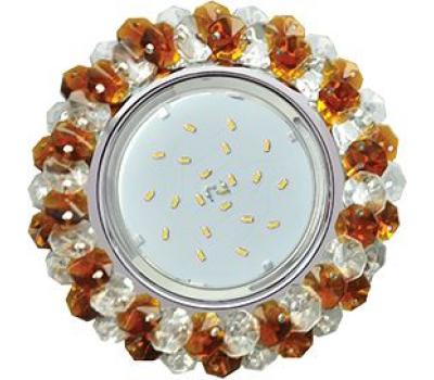 Ecola GX53 H4 Glass Круглый с хрусталиками прозрачный и янтарь/ хром 56x120 - Олимп-Зеленоград