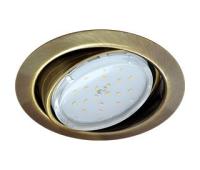 Ecola GX53 FT9073 светильник встраиваемый поворотный черненая бронза (antique brass) 40x120 - Олимп-Зеленоград