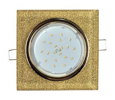 Ecola GX53 H4 Glass Стекло Квадрат скошенный край Золото - золотой блеск 38x120x120 (к+) - Олимп-Зеленоград