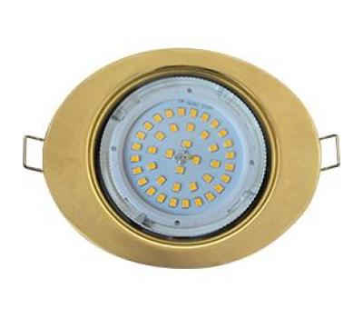 Ecola GX53 FT3238 светильник встр. без рефлектора Эллипс золото 41x126x106 - Олимп-Зеленоград