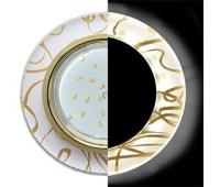 Ecola GX53 H4 LD5310 Glass Стекло Круг с подсветкой  золото - золото на белом 38x126 (к+) - Олимп-Зеленоград