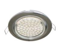 Ecola GX53 H4 светильник встраив. без рефл. chrome  38х106 - 2 pack - Олимп-Зеленоград