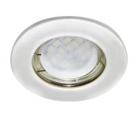 Ecola Light MR16 DL90 GU5.3 Светильник встр. плоский Перламутровое серебро 30x80 - Олимп-Зеленоград