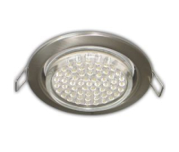 Ecola GX53 H4 Downlight without reflector_satin chrome (светильник) 38x106 - 10 pack - Олимп-Зеленоград