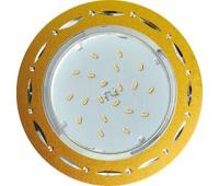 Ecola GX53 H4 DL5385  светильник встраив. без рефл. Точки-полоски по кругу матовое Золото/Алюм 20x110 (к+) - Олимп-Зеленоград