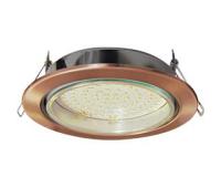 Встраиваемый потолочный точечный светильник-спот Экола GX70 H5 без рефлектора. Чернёная медь. - Олимп-Зеленоград