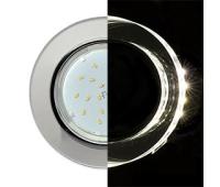 Ecola GX53 H4 LD5310 Glass Стекло Круг с подсветкой  хром - хром (зеркальный) 38x126 (к+) - Олимп-Зеленоград