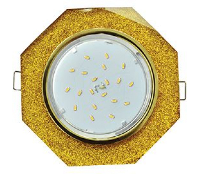 Ecola GX53 H4 Glass Стекло 8-угольник с прямыми гранями   золото - золотой блеск 38x133 - Олимп-Зеленоград