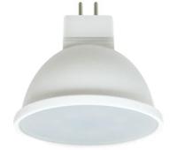 Ecola Light MR16   LED  7,0W  220V GU5.3 2800K матовое стекло (композит) 48x50 (1 из ч/б уп. по 4) - Олимп-Зеленоград