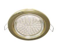 Ecola GX53 H4 светильник встраив. без рефл. gold  38х106 - 2 pack - Олимп-Зеленоград