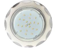 Ecola GX53 H4 DL3902 светильник встраив. без рефл.  Звезда под стеклом Белый блеск / хром 106х38 (к+) - Олимп-Зеленоград