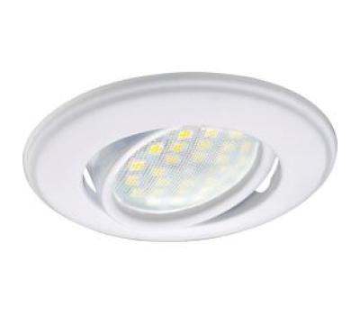 Светильник Ecola MR16 DH03 GU5.3 встр. поворотный выпуклый (скрытый крепеж лампы) Белый 25x88 - Олимп-Зеленоград