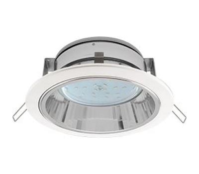 Встраиваемый потолочныйсветильник-спот Экола GX53 H2R.С рефлектором. Цвет - Белый. - Олимп-Зеленоград