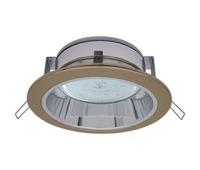 Ecola GX53 H2R 220V GX53  Downlight светильник встраив. с рефлектором чернёная бронза 58*125 - Олимп-Зеленоград