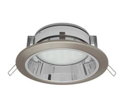 Встраиваемый потолочный точечный светильник-спот Экола GX70 H6Rс рефлектором. Сатин-Хром. - Олимп-Зеленоград