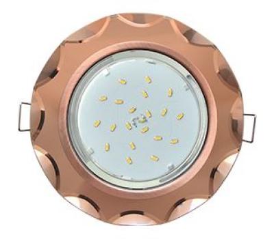 Ecola GX53 H4 Glass Стекло Круг с вогнутыми гранями черненая медь - янтарь 38x126 - Олимп-Зеленоград
