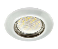 Ecola Light MR16 DL92 GU5.3 Светильник встр. выпуклый Перламутровое серебро 30x80 - Олимп-Зеленоград