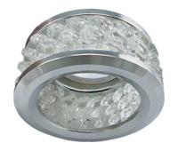 Ecola MR16 DL1655 GU5.3 встр. круглый с хруст.(3 ряда) и ободком - Прозрачный / Хром 63x85 - Олимп-Зеленоград