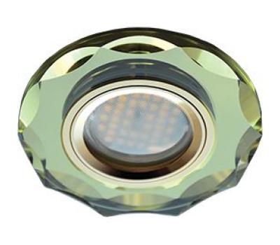 Ecola MR16 DL1653 GU5.3 Glass Стекло Круг с вогнутыми гранями Золото / Золото 25x90 - Олимп-Зеленоград