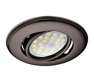 Светильник Ecola MR16 DH03 GU5.3 встр. поворотный выпуклый (скрытый крепеж лампы) Черный Хром 25x88 - Олимп-Зеленоград