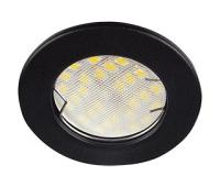 Ecola Light MR16 DL90 GU5.3 Светильник встр. плоский Черный матовый 30x80 (кd74) - Олимп-Зеленоград