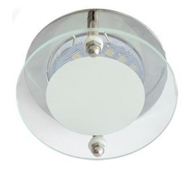 Ecola MR16 DL201 GU5.3 Glass Круг со стеклом Прозрачный и Матовый / Хром 45x80 - Олимп-Зеленоград