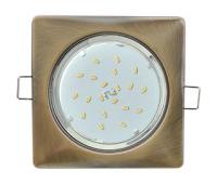 Ecola GX53 H4  Square светильник квадратный без рефл. Черненая бронза 107x41 - Олимп-Зеленоград