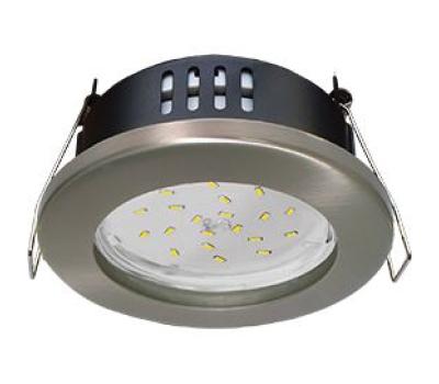 Ecola GX53 H9 защищенный IP65 светильник встраив.  без рефлектора сатин - хром  98*55 - Олимп-Зеленоград