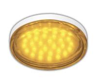 Ecola GX53   LED color  4,4W Tablet 220V Yellow Желтый прозрачное стекло 27x74 - Олимп-Зеленоград