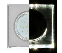 Ecola GX53 H4 LD5311 Glass Стекло Квадрат скошенный край с подсветкой  хром - хром (зеркальный) 38x120x120 (к+) - Олимп-Зеленоград