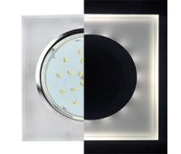 Ecola GX53 H4 LD5311 Glass Стекло Квадрат скошенный край с подсветкой  хром - матовый 38x120x120 (к+) - Олимп-Зеленоград