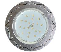 Ecola GX53 H4 DL5384  светильник встраив. без рефл. Звезда матовый Хром/Алюм 20x110 (к+) - Олимп-Зеленоград