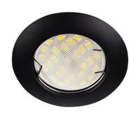 Ecola Light MR16 DL92 GU5.3 Светильник встр. выпуклый Черный матовый 30x80 - 2pack (кd74) - Олимп-Зеленоград