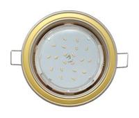 Ecola GX53 H4 светильник встраив. без рефл. 2 цв. жемчуг-золото-жемчуг 38х106 - Олимп-Зеленоград